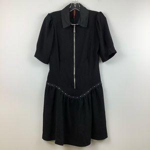 NWT Imperial Drop Waist Shirt Dress in Black